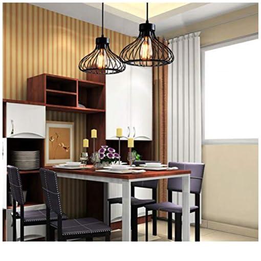 Lampadari a Sospensione Vintage Industriale Nero E27 Rétro Luce Pendente Creativo Design per la Decorazione Domestica,Soggiorno