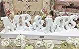 Misslight Lettres en bois Mr Mrs Blanc Décoration de mariage