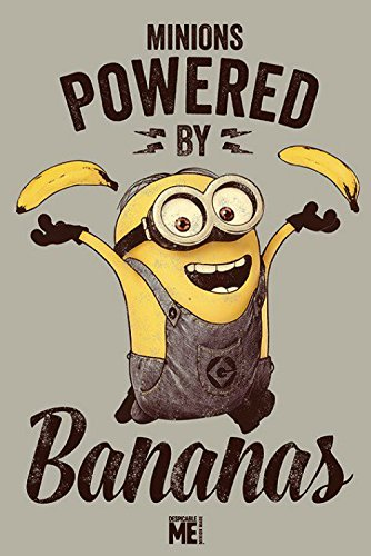 Gru, Mi Villano Favorito – Minions, Powered By Bananas Póster (91 x 61cm)