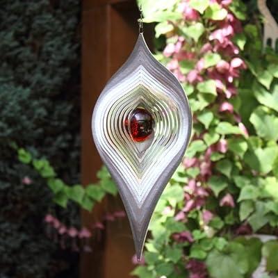 Windspiel Mobile PENDEL mit 35 mm Farbglaskugel | Farben nach Wunsch | absolut Wetterfest- von Hamburg-Trade auf Du und dein Garten