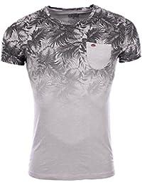 Carisma - Homme - T-Shirt stretch tendance slim fit 4296 gris