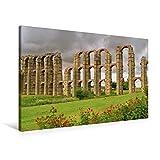 Premium Textil-Leinwand 90 cm x 60 cm quer, Aquädukt von Mérida | Wandbild, Bild auf Keilrahmen, Fertigbild auf echter Leinwand, Leinwanddruck: Extremadura (CALVENDO Orte) - LianeM