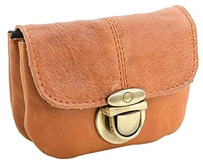 "Sac banane - Gusti Cuir studio ""Chapal"" sac ceinture vintage sac à main rétro sac porté ceinture homme femme cuir de vachette marron clair 2G40-48-5"