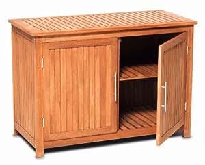 kommode konsolenschrank schrank aus eukalyptus holz innen au en fsc zertifziert amazon. Black Bedroom Furniture Sets. Home Design Ideas