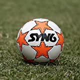 #2: SYN6 SYNSHINE Football !! Launch Offer !!, Size 5 fluorescent orange, Rubber Soccer Ball for Hard Grounds