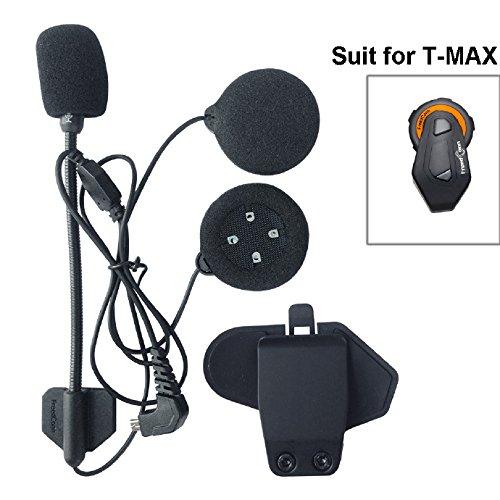 Micrófono de intercomunicador y auriculares + casco con clip, recambio de accesorios...