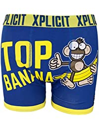 Xplicit Men's Top Banana 3 Funny Novelty Boxer Shorts