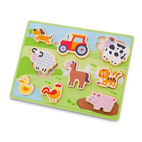 New Classic Toys 10521-Granja Puzzle