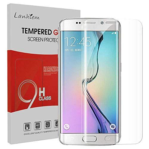 Lanhiem Galaxy S6 Edge Plus Protecteur D'écran, Verre Trempé Protecteur [Garantie à Vie] [Couverture Complète] Anti Rayures pour Galaxy S6 Edge Plus, Transparent