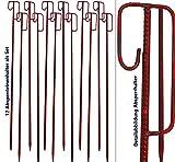 Absperrleinenhalter rot 14x 1250mm–Set mit 12 Stück