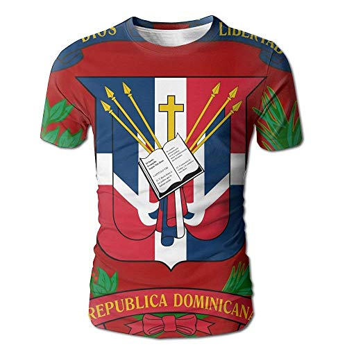 Wappen Dominikanische Republik-Flaggen-voller Druck das lustige T-Shirt der lustigen Männer -
