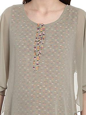 Mine4Nine Women's Olive Ruffled Layered Maternity Maxi Dress