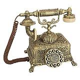 Design Toscano Antikes Telefon – Grand Emperor 1933 Rotationstelefon – schnurgebundenes Retro-Telefon – Vintage-Dekoration Telefone