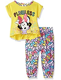 Disney Baby Girls Minnie Mouse 2-Piece Top and Jogger Pant Set
