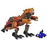 "Transformers ""Age of Extinction"", Konstruktions-Roboter Dinofire Grimlock und Optimus Prime im Set."
