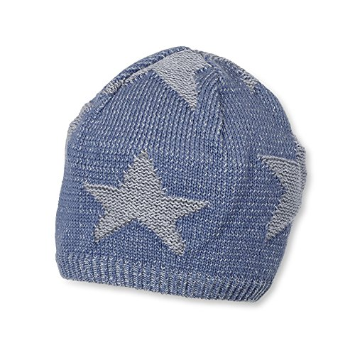 Sterntaler Baby-Jungen Mütze Strickmütze, Blau (Nachtblau 366)