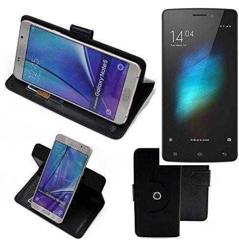 K-S-Trade® Hülle Schutzhülle Case Für -Cubot X12- Handyhülle Flipcase Smartphone Cover Handy Schutz Tasche Bookstyle Walletcase Schwarz (1x)