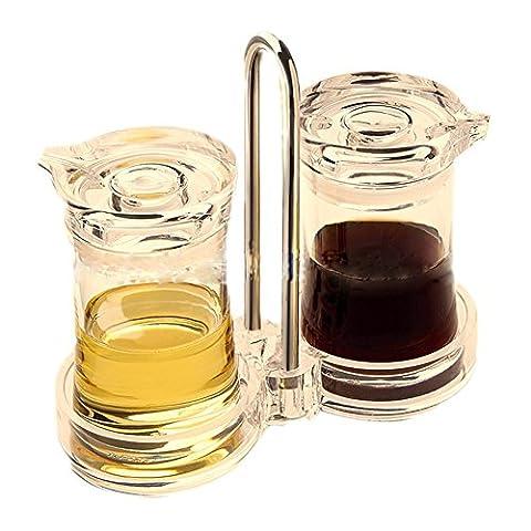 scfl Premium Transparent de qualité distinctes Pin-Up en acrylique transparent Huile Vinaigre Sauce Soja assaisonnement bouteille Cuisine Fournitures, Acrylique, 1030S2-Clear, 5.59inches x 2.52inches x 5.51inches