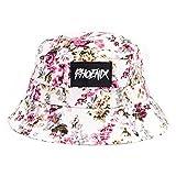 Phoenix Sakura Bucket Hat Unisex Sonnenhut Fischerhut Weiß mit Kirschblütenmuster