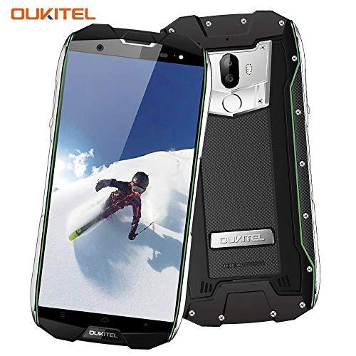 Outdoor Handy, OUKITEL WP5000 IP68 Smartphone Wasserdichtes Stoßfest Staubdicht Dual SIM Handy Android 5.7 Zoll mit 18:9 Display 5200mAh Akku Dual Kameras 16MP+5MP 6GB RAM 64GB ROM-Schwarz