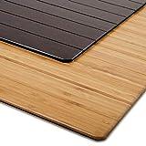 Bodenschutzmatte Floordirekt ECO | aus natürlichem Bambus | Schutz für Teppich und...
