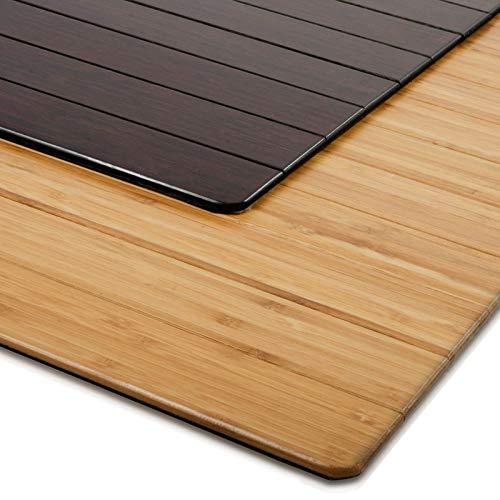 ordirekt ECO | aus natürlichem Bambus | Schutz für Teppich und Hartböden | verschiedene Größen | 90x120 cm Natur ()