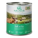 Müllers Naturhof | Kalb und Pute | 6 x 800 g | Nassfutter für alle Hunderassen | getreidefrei und glutenfrei | mit Gartengemüse und Wiesenkräutern | naturnahe Rezeptur mit 65% Fleisch