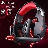 B-Creative 3.5 mm Gaming Headset MIC Red LED Kopfhörer Stereo für Laptop PS3 PS4 Xbox ein X