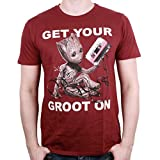 Guardians of the Galaxy 2 T-Shirt Get Your Groot On (burgunder) (L)