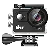 NPET AC7500 4K WiFi Caméra Sport 12MP 170° Grand Angle Ultra HD 2 Pouces LCD APP...