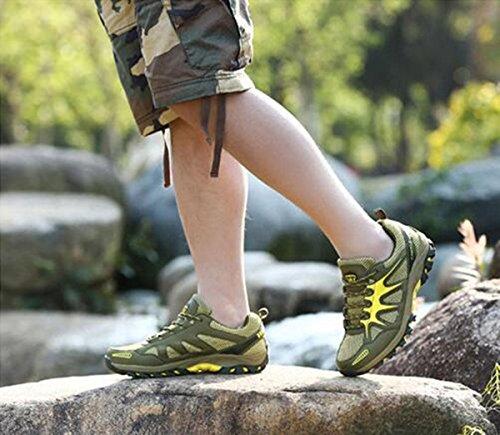 Z&HX sportsScarpe da esterno scarpe da montagna scarpe sportive antisdrucciolo traspirante resistente all'uso army green