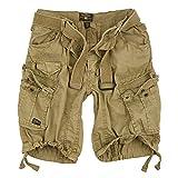 Geographical Norway Cortos Cargo Pantalones Cortos Bermudas con Cinturón Pantalones Cortos Hunter en el Bundle con UD PAÑUELO - Mastic, S