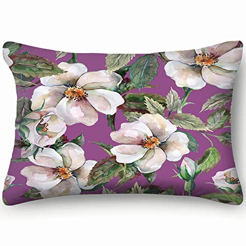 tuyi wild Roses Abstract Flower Abstract Flower Skin Cool Super Soft and Luxury Pillow Cases Covers Sofa Bed Throw Pillow Cover with Envelope Closure 20 * 30 inch Old Country Roses Garden