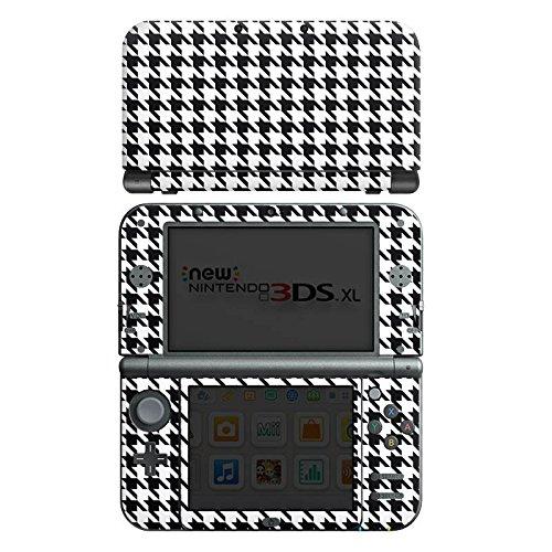 nintendo-new-3ds-xl-case-skin-sticker-aus-vinyl-folie-aufkleber-black-and-white-hahnentritt-karo
