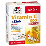 DOPPELHERZ Vitamin C 500+Zink Depot DIRECT Pellets 20 St Pellets
