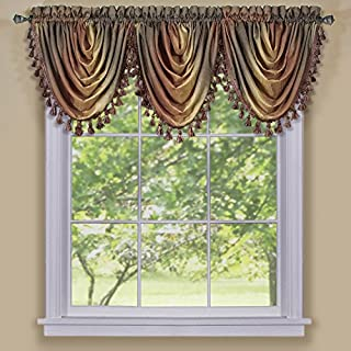 Achim Home Furnishings Ombre Waterfall Valance, Autumn