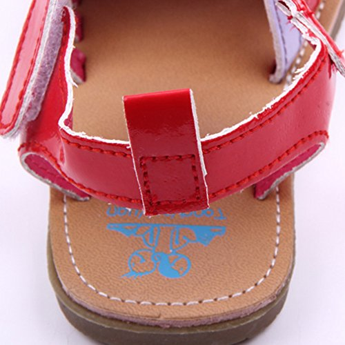 EOZY Baby Prinzessin Sandalen Sommer Anti-Rutsch Schuhe Rot