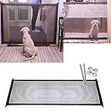 IW.HLMF Magic Gate Portatile Pieghevole Dog barriera di Sicurezza Guardia di Sicurezza installare Ovunque divisorio per Cani in plastica Pet Dog Isolato Mesh cancelletto di Sicurezza