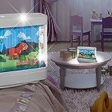 Bauernhof Nacht Licht Silber/ Bunt/ Kunststoff/ Lampe Leuchte Tier Traktor Baby Babylampe Babyleuchte Kinderlampe Kinderleuchte Kinderzimmer Kinderzimmerbeleuchtung Kinderzimmerlampe Kinderzimmerleuchte Nachtlicht Schlummerlicht