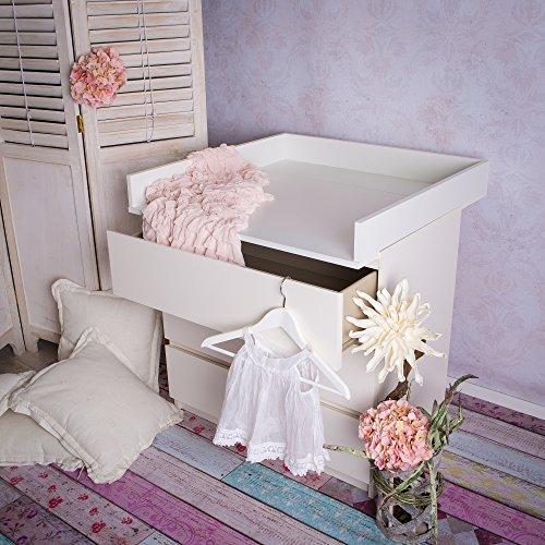 Fasciatoio adatto a tutte le cassettiere IKEA Malm (bianco) (SENZA CASSETTONE)