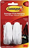 #1: Command Designer Medium Plastic Hook(White, 2 hooks and 4 strips)