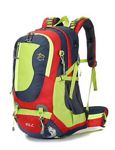 ZQ 40L L Tourenrucksäcke/Rucksack Camping & Wandern / Klettern Draußen Multifunktions Grün / Rot / Blau Nylon No Blue