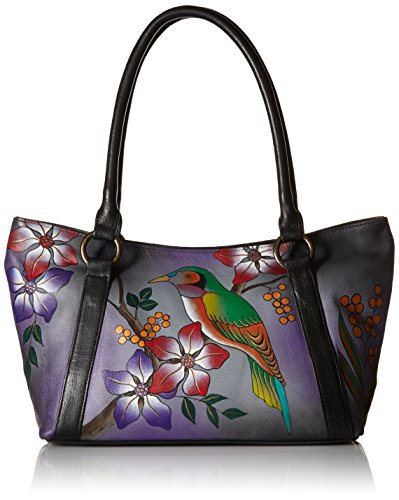 anuschka-womens-anna-by-handpainted-leather-medium-tote-shoulder-handbag-bird-on-branch-grey-one-siz