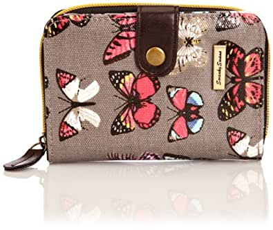 SWANKYSWANS Girls Roche Butterfly Print Small Wallet SW812-GREY Grey