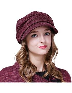 Berretto Irlandese Pieghettato Donna Autunno Inverno Cappello A Maglia, Multi-Colore