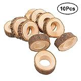 Healifty 100Kreis Holz Serviette Ring DIY Basteln Kits Hochzeit Pary Tisch Ornament