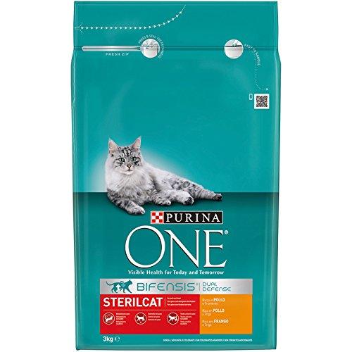 Purina ONE Bifensis Pienso para gatos Esterilizados Pollo y Trigo 3 Kg