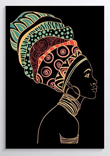 Tribal Art Afrika Frau Kunstdruck Poster ungerahmt Bild DIN A4 A3 K0566 Größe A3