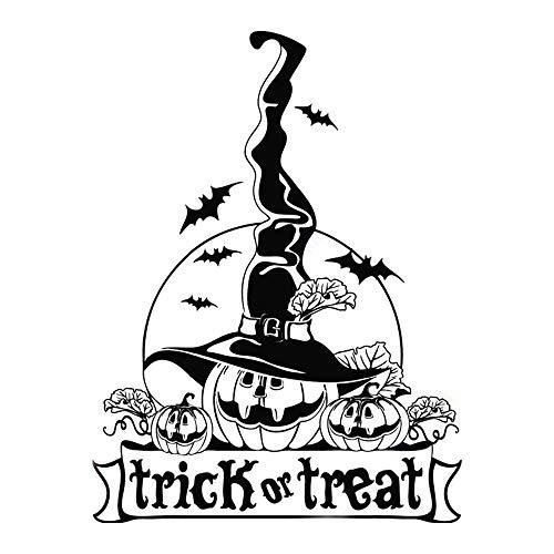 wandaufkleber 3d Wandtattoo Schlafzimmer Happy Halloween Trick or Treat Kürbis Hexen Dekor Aufkleber für Wohnzimmer Schlafzimmer