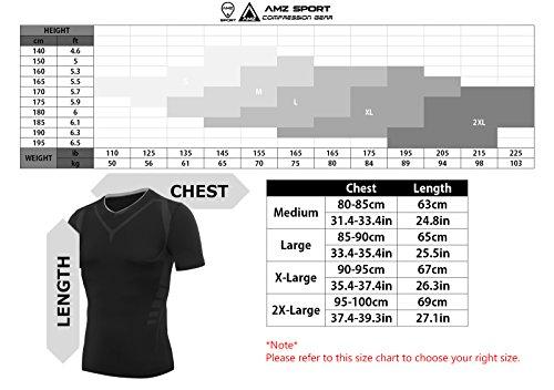 AMZSPORT-Maglia-a-Manica-Corta-Compression-da-Uomo-Sport-Baselayer-Asciugatura-Rapida-T-shirt-DX05-DX10